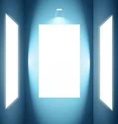 photo frame with lights vector image vector image