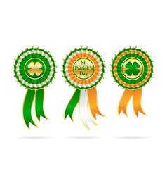 Ribbon award for patrick day vector