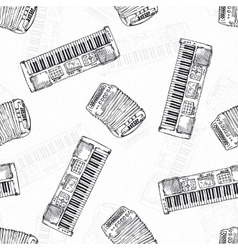 Seamless Pattern Keyboard instruments vector image