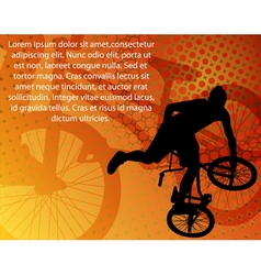 Stunt bicyclistabstract background vector