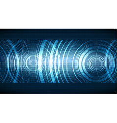 Technological ecco soundwave background vector