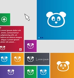 Teddy Bear icon sign buttons Modern interface vector image
