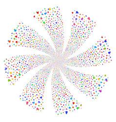 Thumb up fireworks swirl flower vector