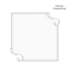 victorian square frame of calligraphic design page vector image