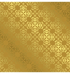 Vintage gold pattern with gradient vector