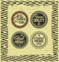 Vintage retro style label badges vector