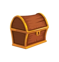 Vintage wooden chest with vector