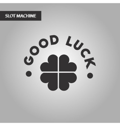 Black and white style good luck clover vector