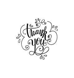Thank you handwritten vector image