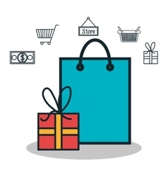 Online shopping e-commerce isolated vector
