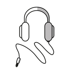 Isolated headphone device design vector