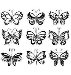 Set Butterfly vector image