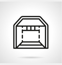 trade booth simple line icon vector image