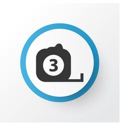 Tape ruler icon symbol premium quality isolated vector