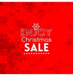 Enjoy christmas sale card abstract red background vector
