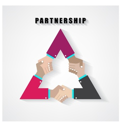 partnership sign vector image