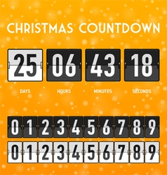 Chchristmas countdown timer vector