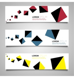 Colorful set of banners vector