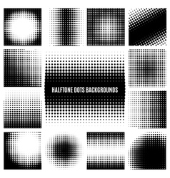Halftone dots backgrounds vector