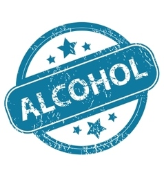 Alcohol round stamp vector