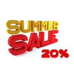 Summer Sale Large three-dimensional letters on a vector image