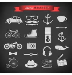 Web hipster plat icon vector