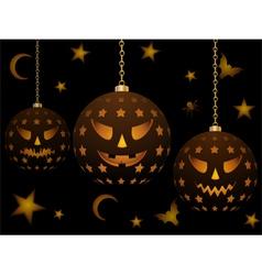 lanterns for halloween vector image
