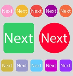 Next sign icon navigation symbol 12 colored vector