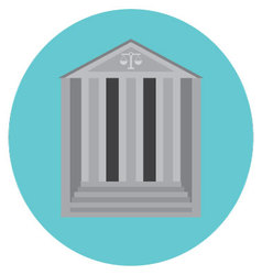 Courthouse concept icon vector