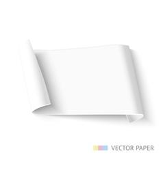 Paper roll banner vector