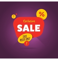 Exclusive sale advertisement promo banner vector
