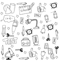 Doodle of collection stock element school vector