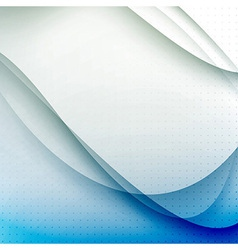 Abstract blue waves modern background vector image vector image