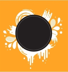 abstract orange and black background vector image vector image