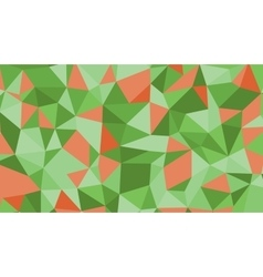 Abstract red green lowploly of many vector image vector image
