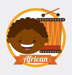 African kid vector