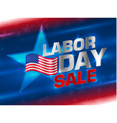 american labor day background vector image