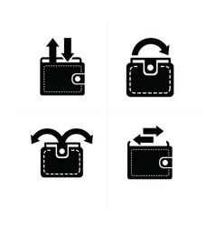 arrow on wallet set vector image