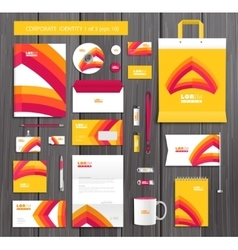 artistic corporate identity template with vector image