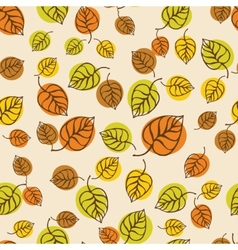 Autumn leaves pattern for design wrapping paper vector image vector image