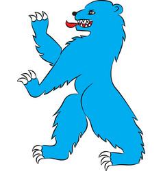 bear blue rampant vector image vector image
