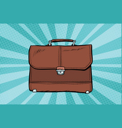 Business leather briefcase vector
