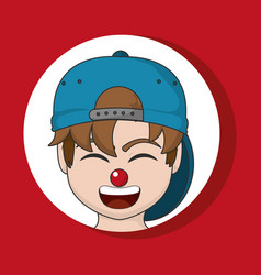 Clown cartoon design vector