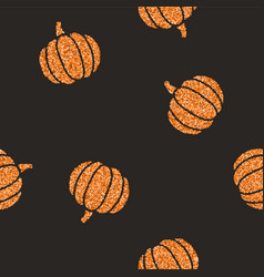 Cute glitter pumpkins background vector