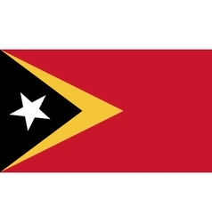 East Timor flag image vector image vector image