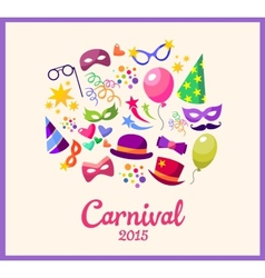 Festive banner with carnival colorful vector