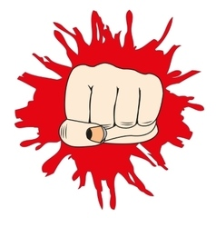 Fist in break wall vector image
