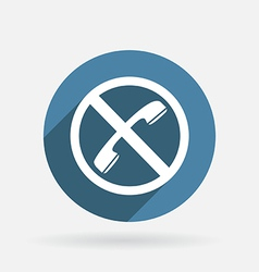 forbidden to use phone Circle blue icon vector image vector image