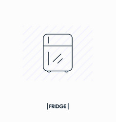 fridge outline icon isolated vector image vector image