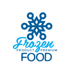 Frozen product premium food label for freezing vector
